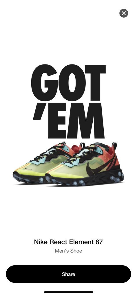 3a1fb776bb50 Straight to cart 🚨 Nike React Element 87