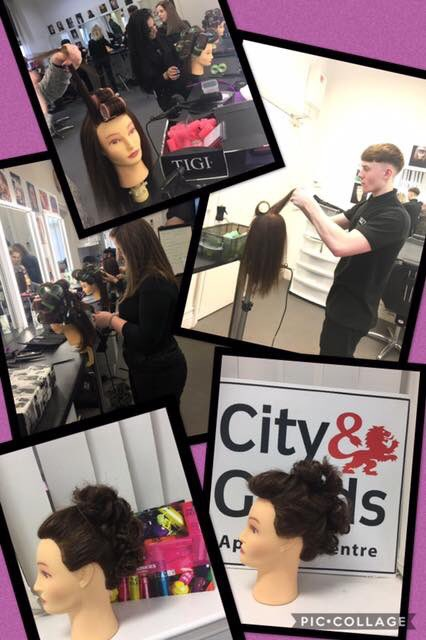 End point assessment training today at the Academy! Well done team! 👍👍👍 #yazzhairdressingacademy #apprentices #Leeds
