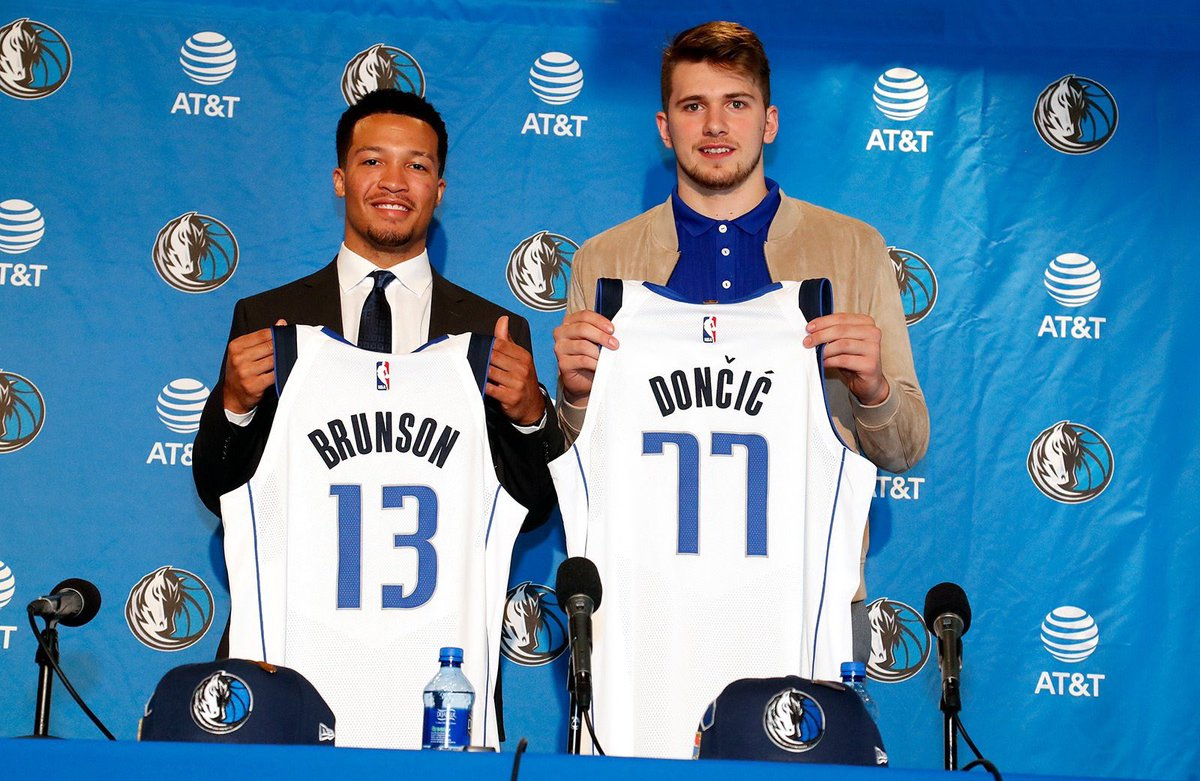 """On @jalenbrunson1, the impressive second round rookie that is making this draft bigger than Luka Doncic for the Dallas Mavericks  """"I think my character and the things I can do from a leader standpoint is a big part of good teams""""  ➡️http://on.mavs.com/trk/Ifnc"""