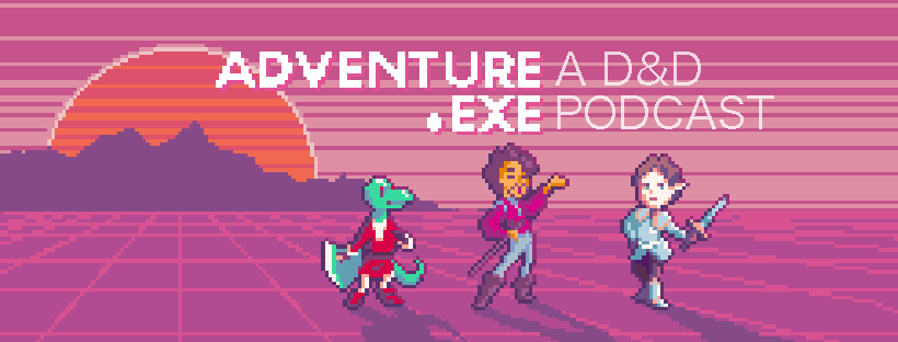 We're Adventure.exe, an offbeat and heartwarming comedy D&D podcast! Check out our current season: the adventures of a kobold paladin, a Tim Curry-esque bard and a highfalutin elven cavalier.   The first episode is here! https://adventureexe.podbean.com/e/s02e01-the-roost/…