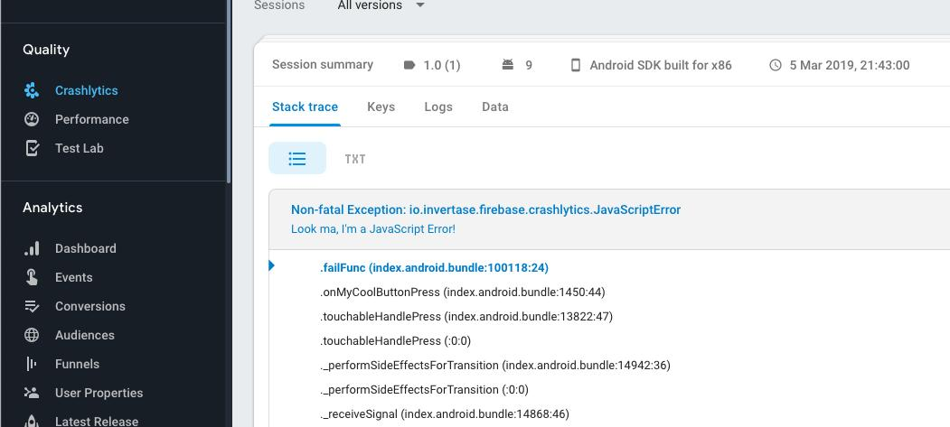 changelogs md · invertase/react-native-firebase release history