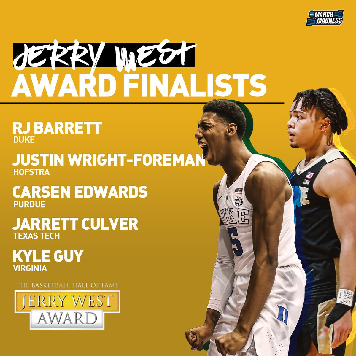NCAA March Madness's photo on Carsen Edwards