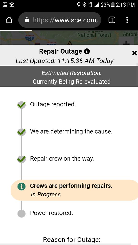 Southern California Edison Down Service Status Map Problems