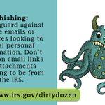 Image for the Tweet beginning: #IRSDirtyDozen: Don't open surprise emails