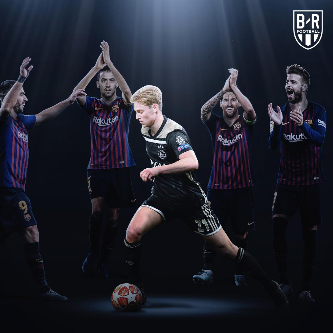 Frenkie De Jong did his current and future teammates proud 👏