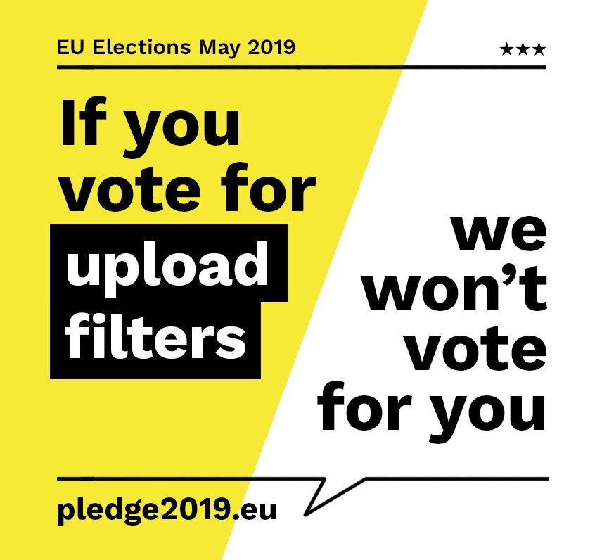 In less than a month, the European Parliament will not only decide on a new #copyright law, but also on the future of the free and open #internet: If you are from the European Union, get active now, go to https://pledge2019.eu  and ask your representative to #SaveYourInternet