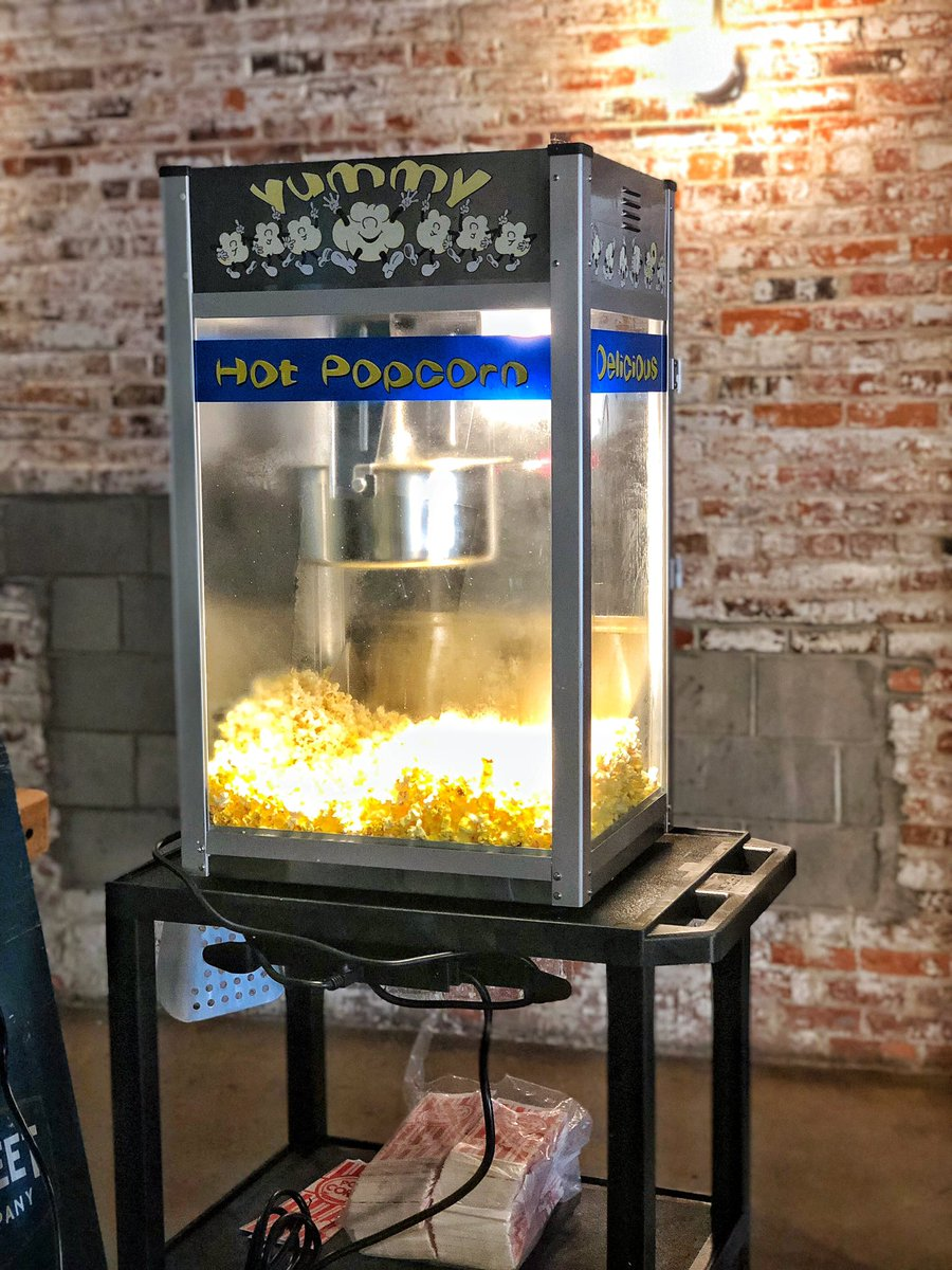 New popcorn machine! Free popcorn for everyone! Come celebrate head brewer Nate tonight! $1 off all beer, 25% off all cans and the brand new Royster Stout on tap! #itsaparty #tuesdaybrewsday #pittstreetbrewing #goodbyenate