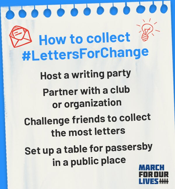 Tips for collecting #LettersForChange in your community!