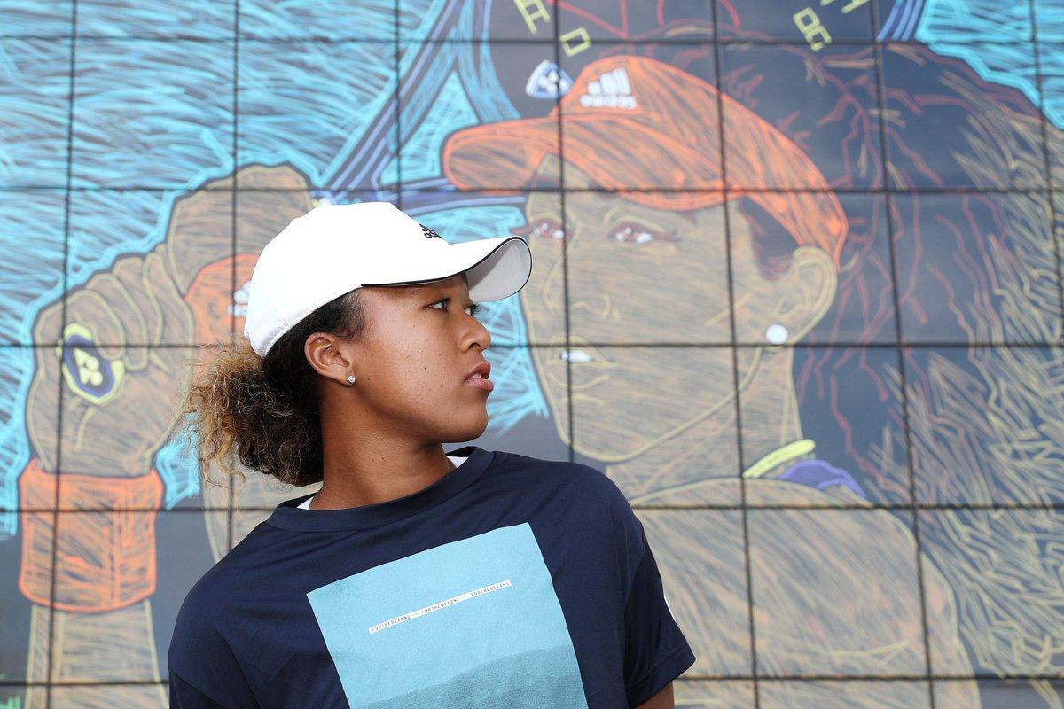 Immortalised in Indian Wells ✨ @Naomi_Osaka_