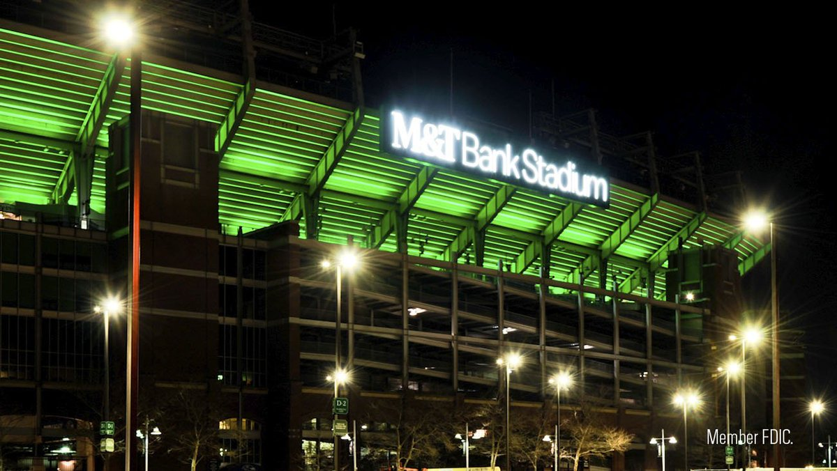 Our friends the @Ravens are shining a light on our mutual commitment to the city of #Baltimore! Tonight, M&T Bank Stadium is illuminated green in celebration of our 16-year partnership!