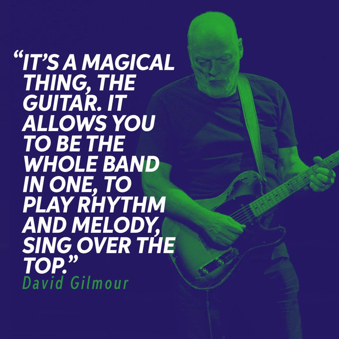 Happy Birthday to the great David Gilmour!