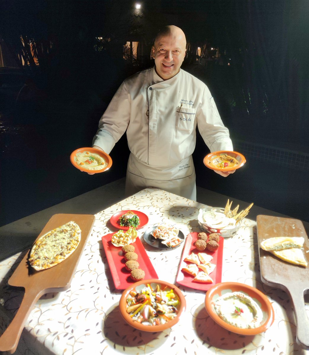 """""""The Souk Experience"""" is an ongoing promotion at Encounters Taj Krishna, Hyderabad.  Curated by Syrian Master Chef Simon Shakour from Souk, the Mediterranean and Middle-Eastern restaurant at The Taj Mahal Palace, Mumbai https://www.facebook.com/roycsabya/posts/10157146718436810… #Hyderabad  #Telangana"""