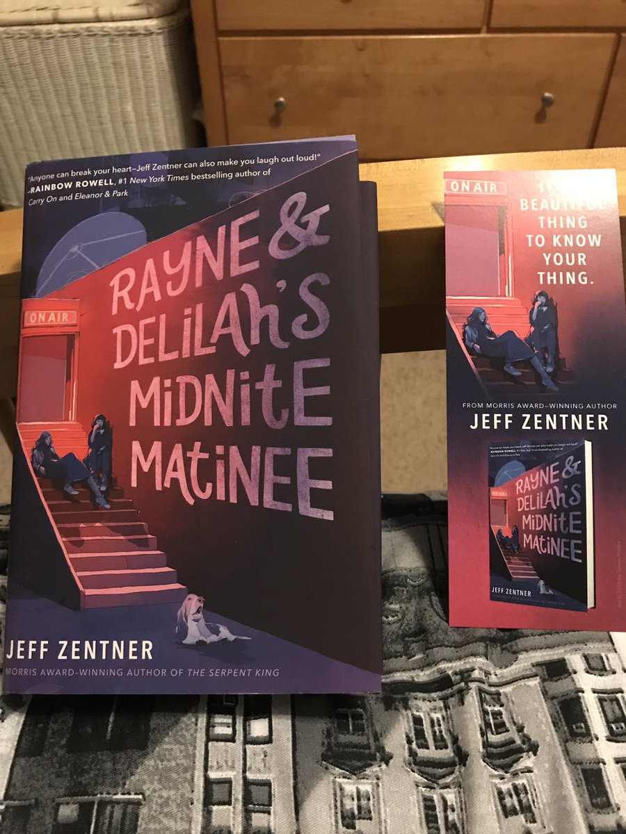 Finally got it! Autographed, but I thought it was supposed to be personalized? Oh well, I know my name! Can't wait to dive in. @jeffzentner #RayneAndDelilahsMidniteMatinee #IloveYAlit