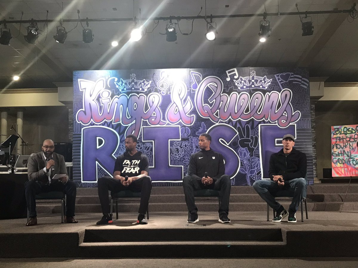 Q&A with Galen Duncan, Harrison Barnes, Larry Lewis and Doug Christie of the @SacramentoKings during tonight's Kings & Queens Forum