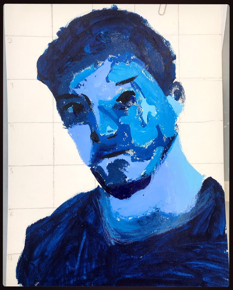 #day5 #31daysofyam #contrast - nice work Kelly! #monochromaticportrait #8thgrade #youthartmonth2019 #youthartmonth @youthartmonth  @artsednj @kellythekat4485 @ArtEducatorsNJpic.twitter.com/NHbODvT4Th