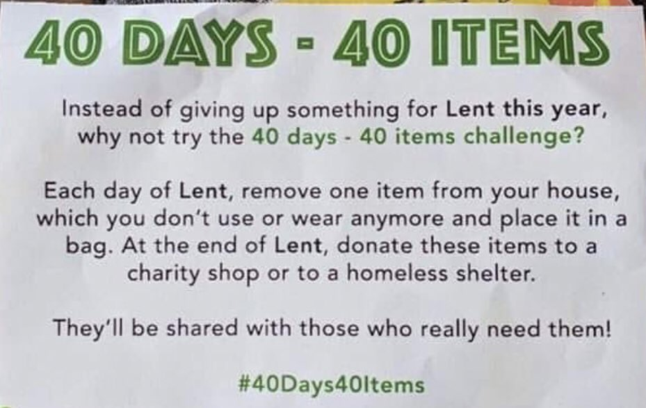Doing the #40Days40Items Lent Challenge starting tomorrow?  Why not consider making @_UniquePeople your recipient organization.  For almost 30 years, we have been providing compassionate care, housing and support services to New Yorkers in need, wont you help us? #WeAreUnique