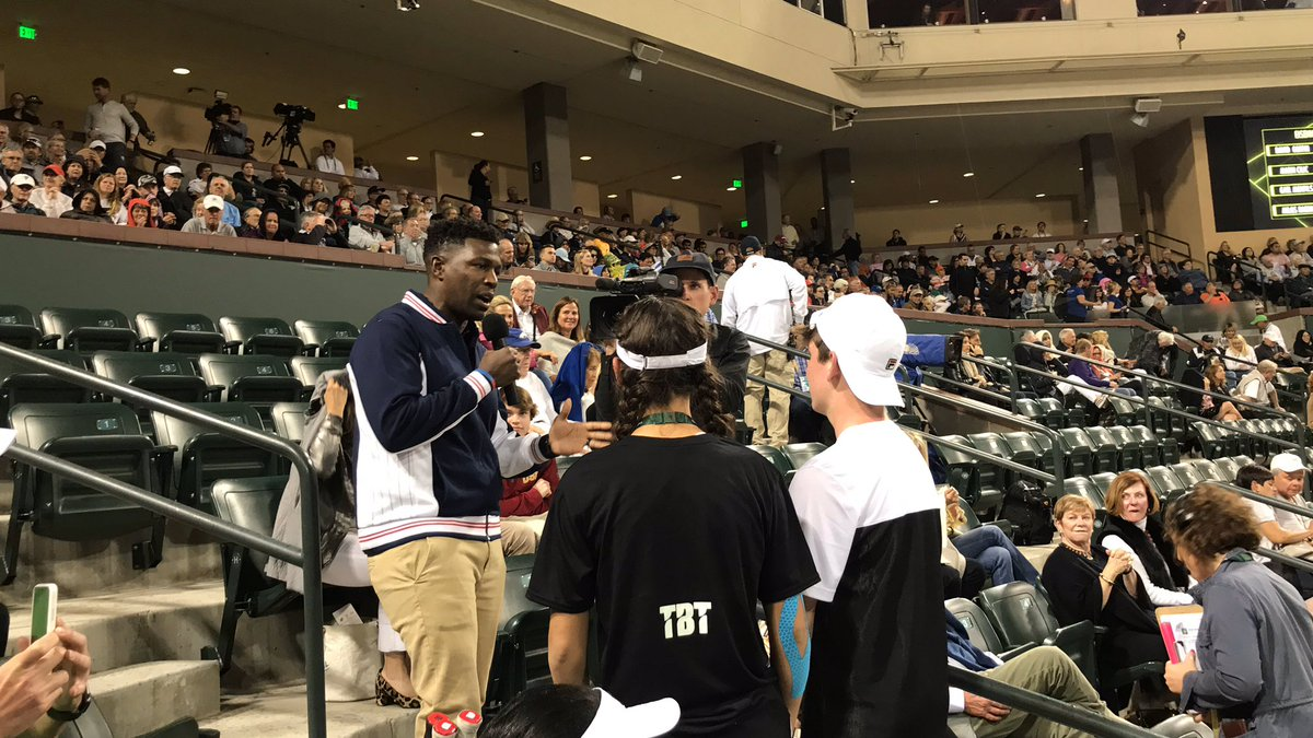 And our winners get their 15 minutes of fame! @tiebreaktens @WilsonTennis @FILAUSA