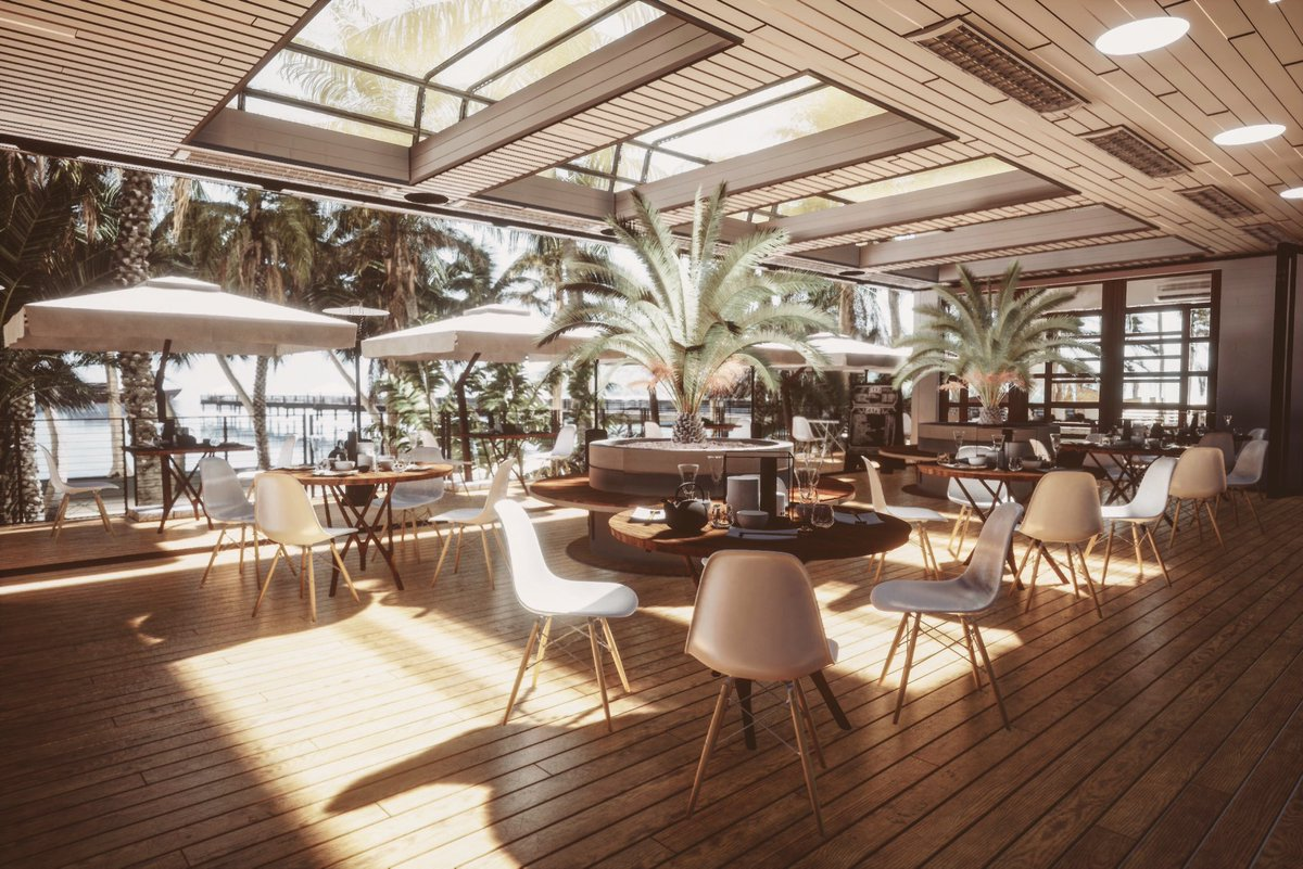 scionti_design Restaurant beach render with Unreal Engine 4