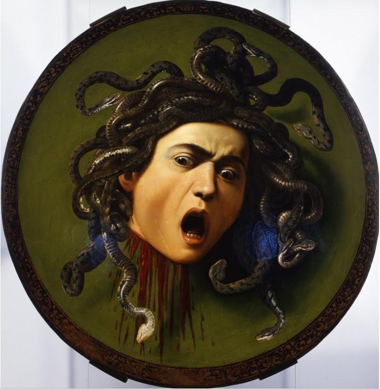 Michelangelo Merisi Da Caravaggio Medusa 1598 Tuval üzerine Yağlı