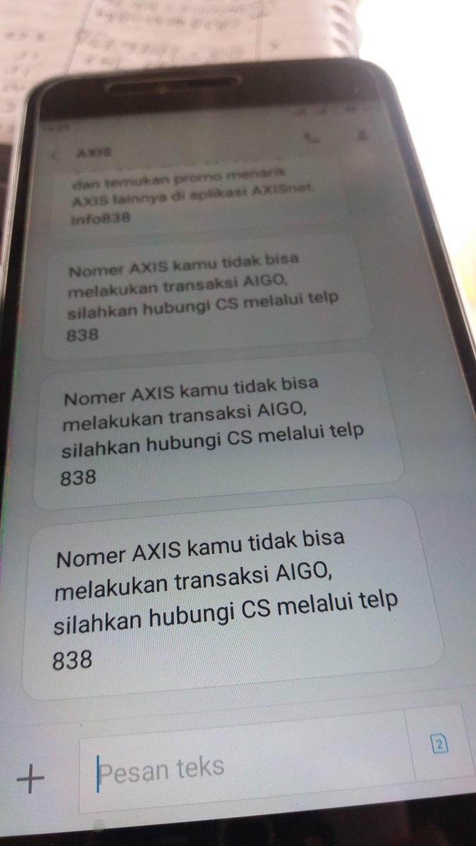 @ask_AXIS mohon info nya kenapa tidak bisa nerima paket aigo, padahal sudah registrasi kartu.. trmksh.