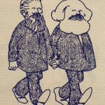 Image for the Tweet beginning: Marx and Engels strolling hand