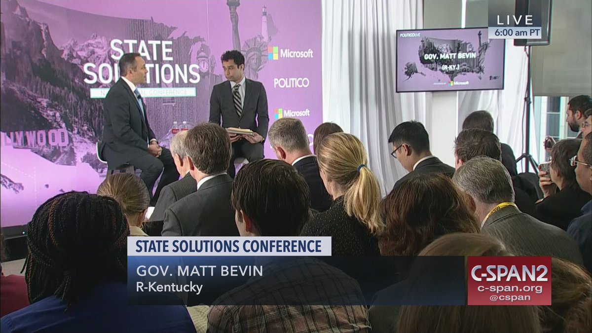 .@Politico #StateSolutions Conference –  LIVE on C-SPAN2 https://cs.pn/2Vd8wMZ