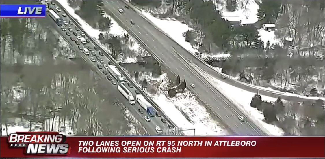 Avoid this area if you can on 95 North in #Attleboro There are major