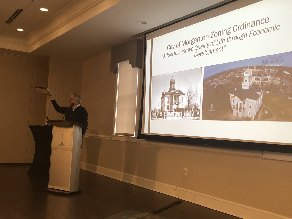 The Morganton City Council is meeting for its annual workshop now. First up: A review of the city's zoning ordinance with City Attorney Louis Vinay.