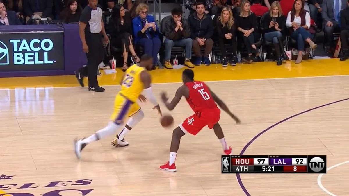 😮@KingJames unleashes 'Statue of Liberty' slam as #Lakers fight back from 19 down to beat #Rockets #nba #lakeshow   📲 Watch - http://skysports.tv/MOGISF