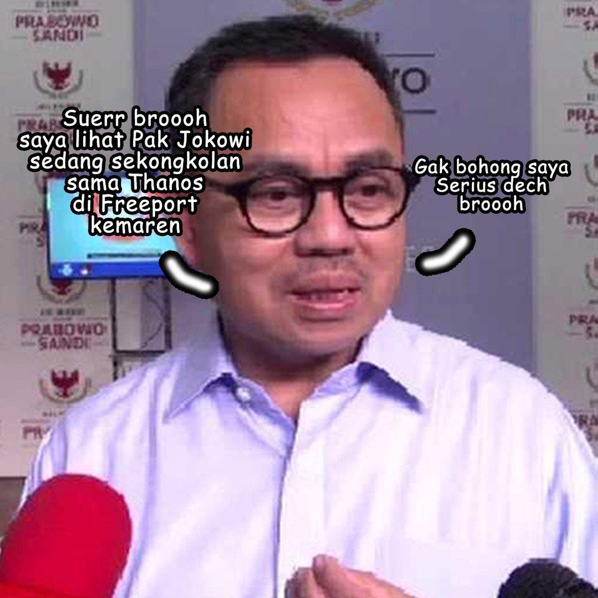 Silahkan bohongnya dimaksimalkan lagi #SudirmanSaidHalu #JokowiLagi