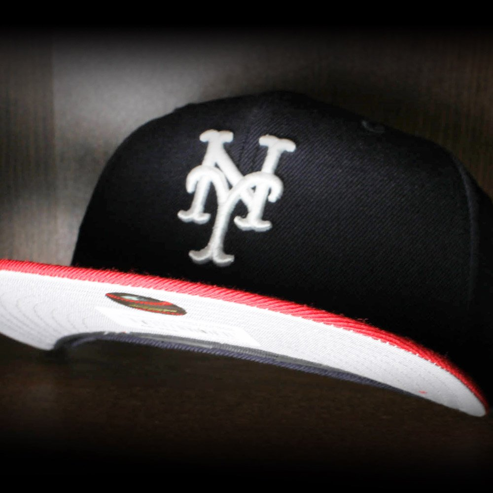 bcd7fb161 New York Mets New Era 59Fifty Fitted Hats (Navy Red Gray Under Brim) http