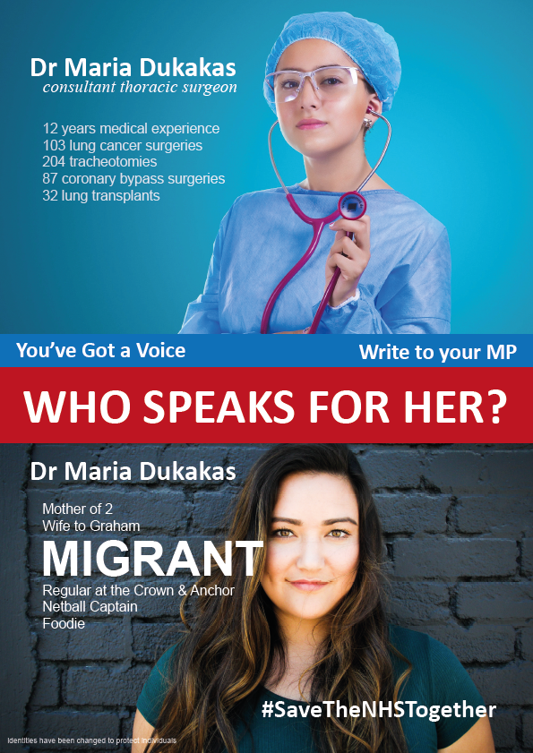 The first of our posters, which highlights the important work EU nationals carry out in the NHS  We want to highlight the benefits migration brings to the NHS. With your help we can make more of these and distribute them widely   https://www. crowdfunder.co.uk/save-the-nhs-t ogether &nbsp; … <br>http://pic.twitter.com/z3BsP39yV2