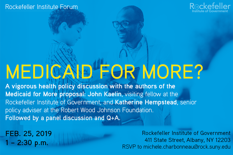 Join us for a vigorous discussion of #Medicaid buy-in on Monday. Panelists include:  + Amir Bassiri, senior health policy advisor to @NYGovCuomo + Lev Ginsburg of @BusinessNYS + Courtney Burke of @HANYScomm + Lara Kassel of @MedicaidMtrsNY + @danmeuse  https://t.co/CHHTFsNfav