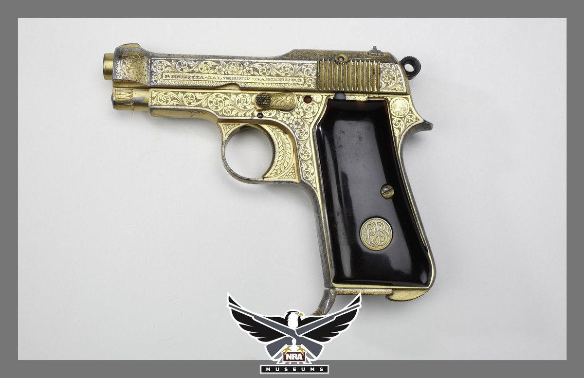 #GOTD - Chuck Yeager's Beretta. This handgun was presented in 1950 to Brigadier General Chuck Yeager, U.S.A.F., by the Cuban Minister of Defense. Chambered in .32 ACP. In 1947, Yeager was the first person to exceed the speed of sound in the Bell XS-1. #history #nramuseums