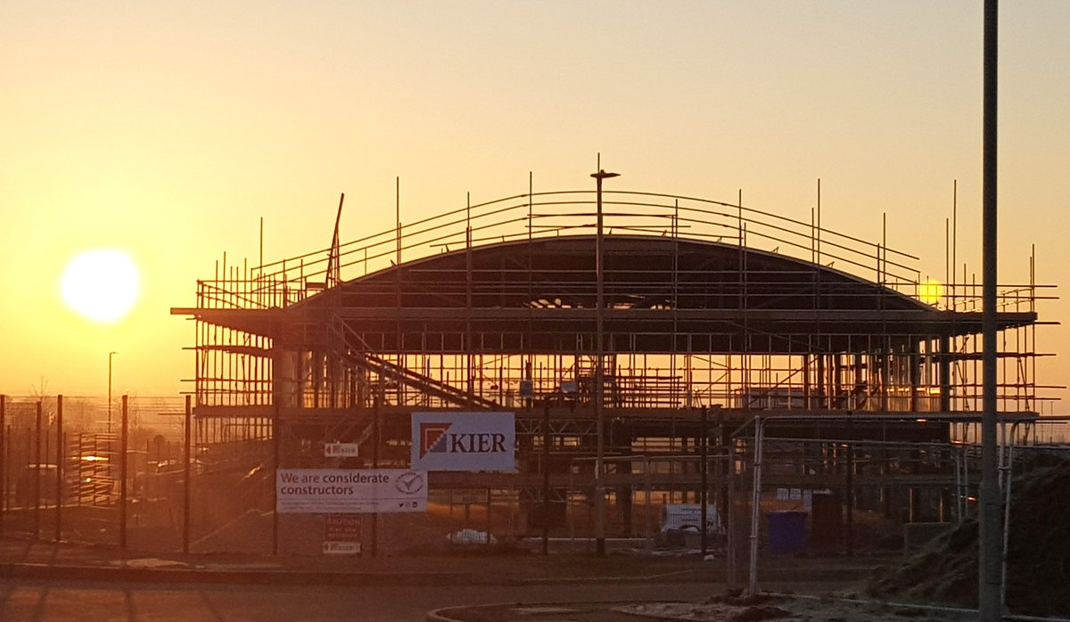 It's a lovely day for construction for our #kiernotts team at Flying High Academy in Hucknall #happyfriday #loveconstruction #teamscape