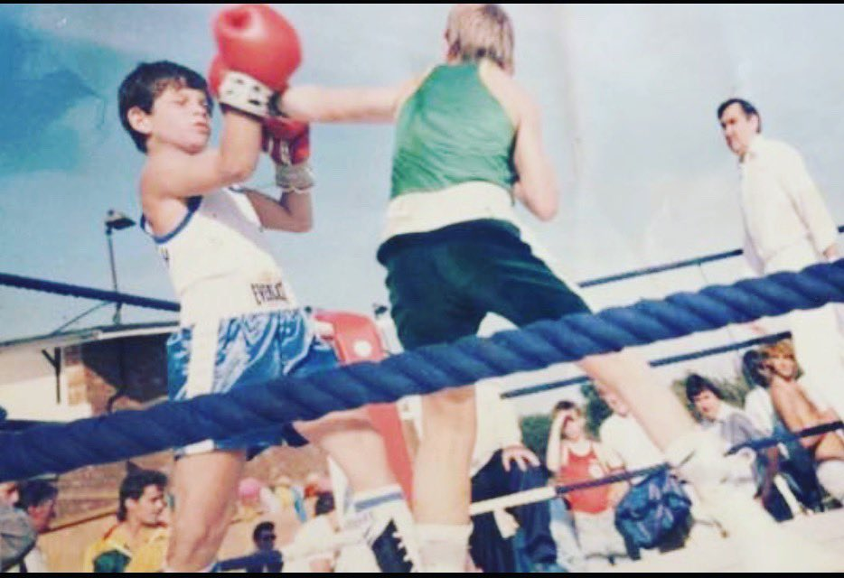 My first fight 10 years old! Shit time flys! #thegoodolddays 🥊🥊