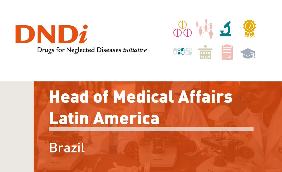 New position in Brazil! Passionate about #globalhealth and #access2meds?  We're hiring a Head of Medical Affairs to lead DNDi and @gardp_amr projects in the Latin America region: https://bit.ly/2GCvJoI #ngojobs