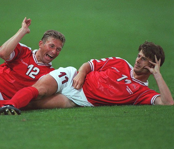 Happy Birthday Brian Laudrup  Remember this goal celebration against Brazil in 1998?