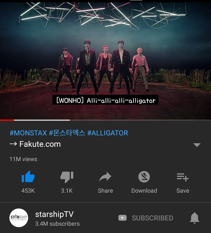 READ DO NOT REPORT THE MV. PLEASE SEND AN EMAIL TO starship-ent@daum.net  YT MIGHT DELETE THE VIEWS OR WORSE, DELETE THE MV ITSELF. AGAIN, DO NOT REPORT THE MV TO YT! @OfficialMonstaX @STARSHIPent #Alligator<br>http://pic.twitter.com/pb2eecDaNe