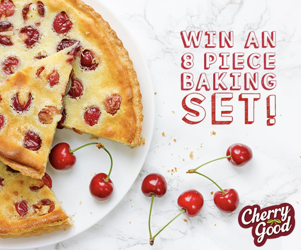 Follow, Retweet &amp; Reply to win an 8 piece non-stick bakeware set this #CherryMonth and get baking your favourite cherry treats  UK Only, Ends 28/02 at 1pm, T&amp;Cs Apply #FreebieFriday<br>http://pic.twitter.com/a7fb8fA0xo