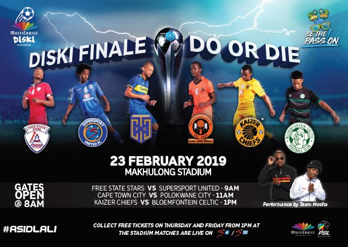 An incredible final day of the 2018/19 MultiChoice Diski Challenge is expected tomorrow at Makhulong Stadium⚡⚽  4⃣teams are in the running to take the title 🏆 Catch all the @Asidlali action on SS4 tomorrow from 08:00 (CAT)    #Asidlali