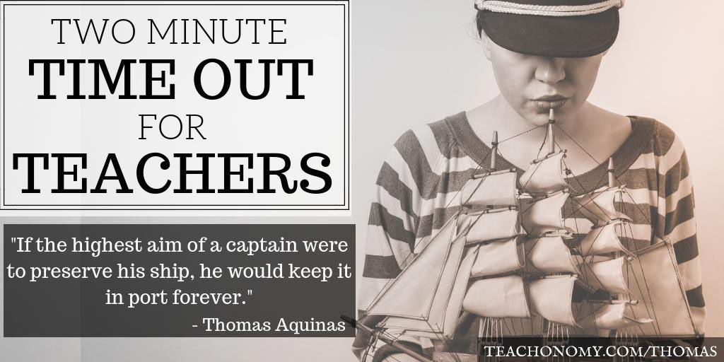 """Start your morning with this week's Two Minute Timeout for Teachers and be encouraged! """"You Were Built to Sail!""""  http:// Teachonomy.com/Thomas  &nbsp;   #bfc530 #WeTeachuN #JoyfulLeaders<br>http://pic.twitter.com/6CFzwJP8au"""