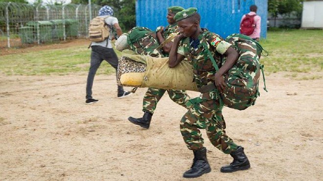 The military official in Burundi, who insisted on anonymity because he is not authorized 2 speak to the press told Associated Press that about 200 soldiers boarded a flight from Mogdishu to Bujumbura Thursday afternoon #Somalia #Amisom <br>http://pic.twitter.com/S89JxbYIRH