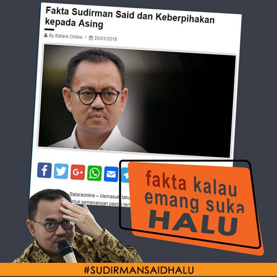 Ternyata @sudirmansaid pro asing toh.. Pantas #SudirmanSaidHalu #JokowiLagi