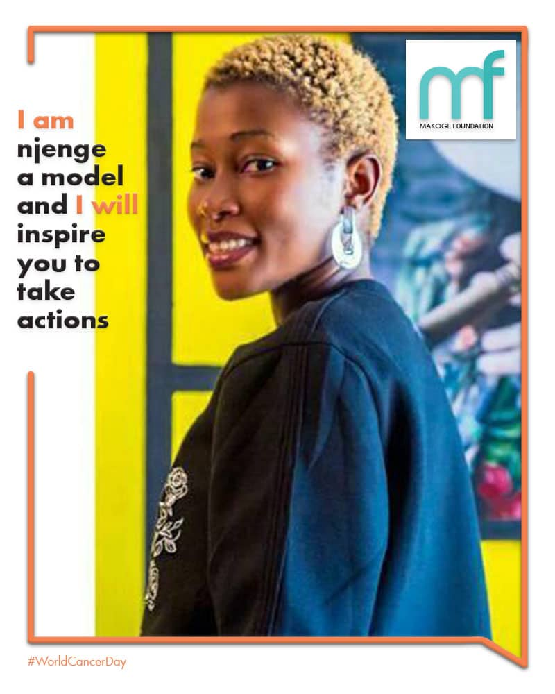 We keep fighting. #njenge a model and student shares her own personal commitment #iamAndIWill  message  #makogefoundation  #worldcancerday   #erasecancer<br>http://pic.twitter.com/26Al4RT9F3