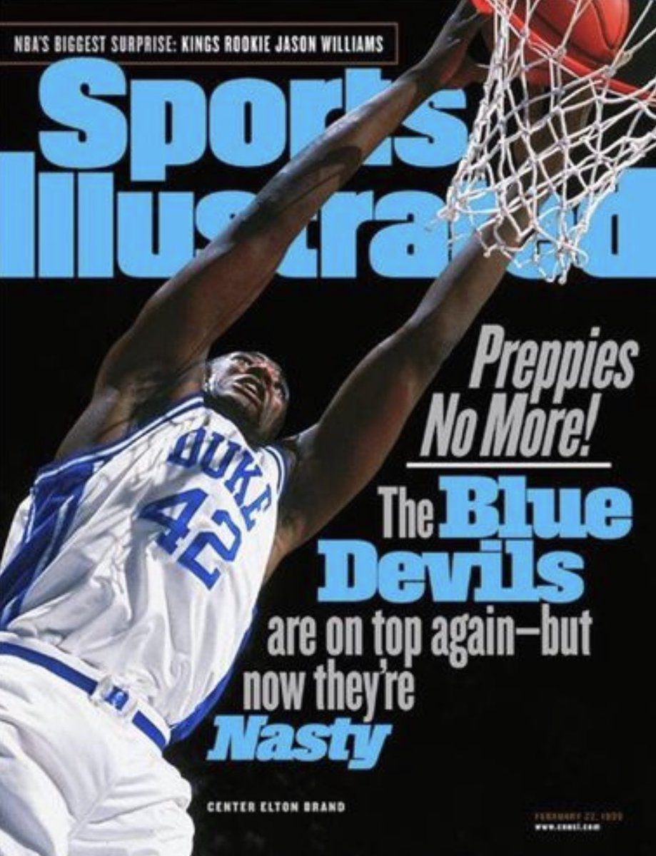 SI cover on this day, 20 years ago: Duke's Elton Brand.