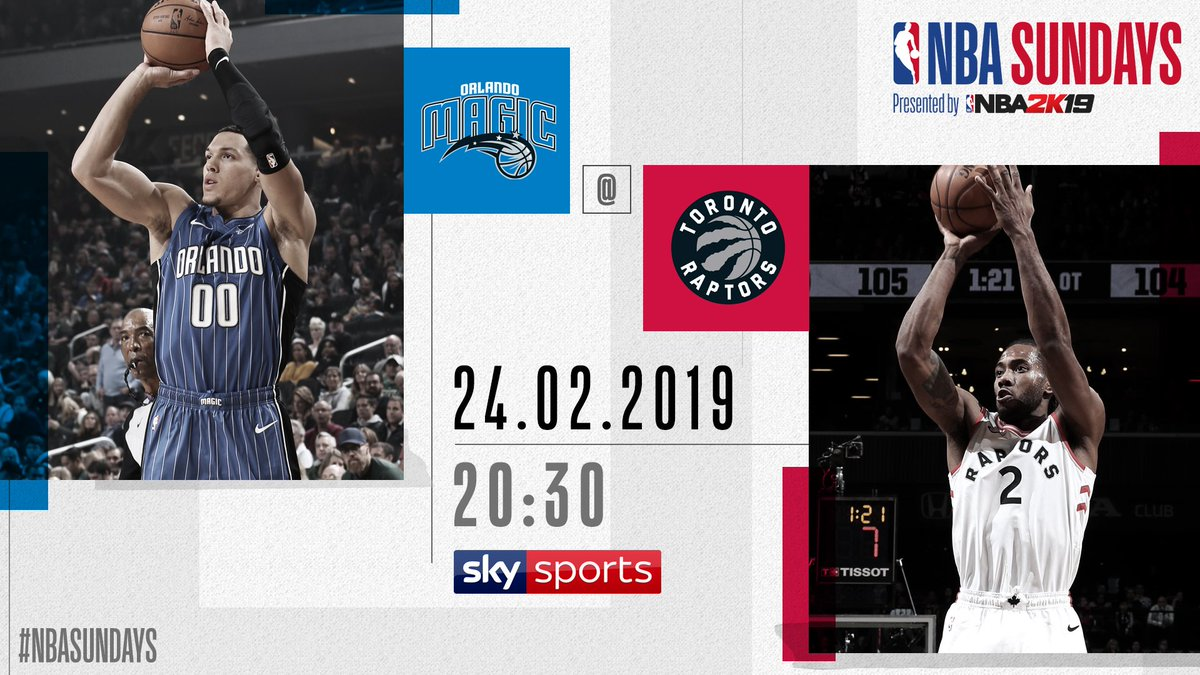 🔥#NBASundays  🏀 #PureMagic vs. #WeTheNorth  🗓 Sunday 24th February 2019 ⏰ 20:30 GMT 📺 @SkySportsNBA