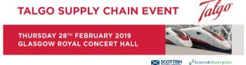 Interested in opportunities from Talgo locating in Fife? The Talgo Supply Chain event 28th Feb, Glasgow could be for you.  Find out about Talgo's supply chain strategy & the opportunities for Scottish businesses. More info https://goo.gl/rGkGUA @sdpscotland #businessfalkirk