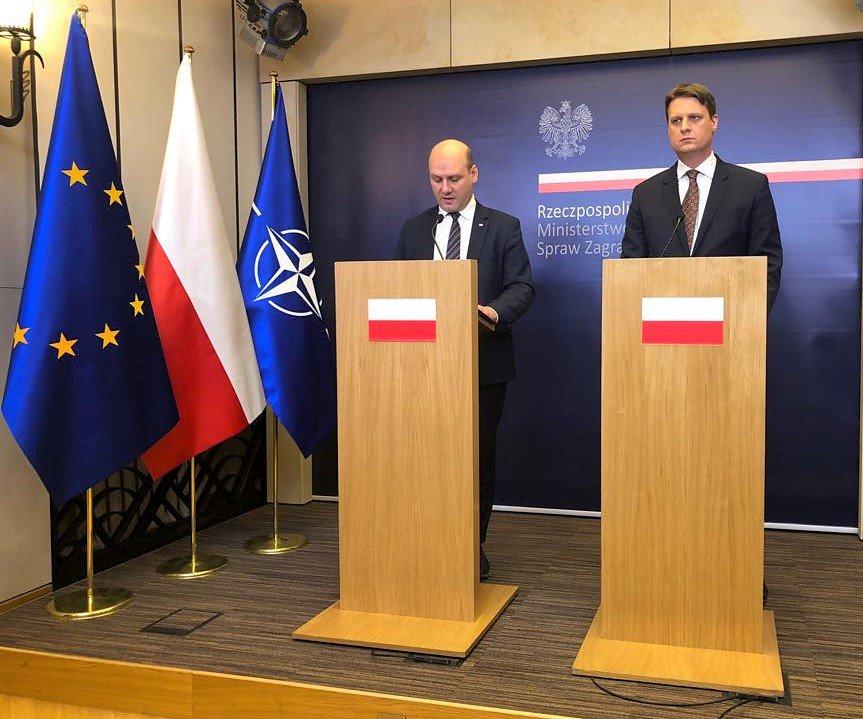 Trwa konferencja prasowa wicemin. @SzSz_velSek i @FilipRdesinski w sprawie działań @MSZ_RP oraz @Fundacja_PFN służących poprawie stosunków polsko-żydowskich.