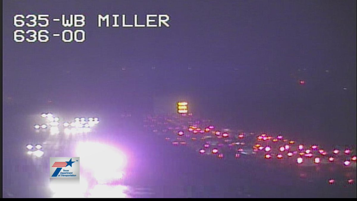 Accident 635 WB at Royal/ Miller Exit. #DFWTraffic @nbcdfw